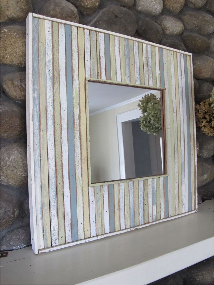 custom wood recycled mirror by RedGarage on Etsy, $250.00
