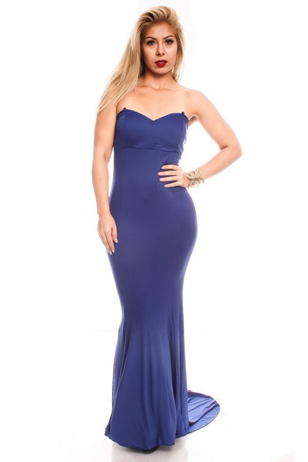 BLUE TUBE TOP LOOK PADDED CHEST MAXI DRESS,Sexy Maxi Dresses-Sexi Maxi Dresses,Sexy Long Dresses,Chiffon Maxi Dress,Long Maxi Dresses,Long Sleeve Maxi Dress,White Maxi Dress,Floral Maxi Dresses,Sexy Black Maxi Dress,Mermaid Maxi Dress,Two Piece Maxi Dress,Off The Shoulder Maxi Dress