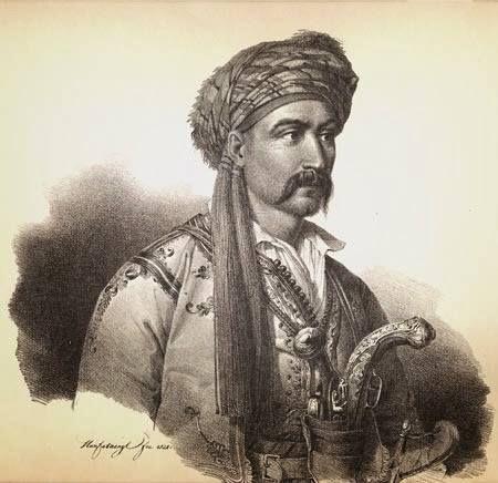 Προσωπογραφία Νικηταρά του Τουρκοφάγου, έργο του Karl Krazeisen.