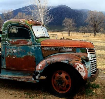 Love this rusty truck!