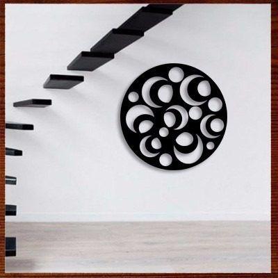 quadro decor escultura parede vazada mdf mandala 80cm ref.01