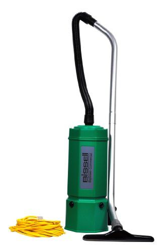 """Bissell BigGreen Commercial BG1006 High Filtration Backpack Vacuum, 1080W, 22.5"""" Height, 6 qt Capacity, Red"""