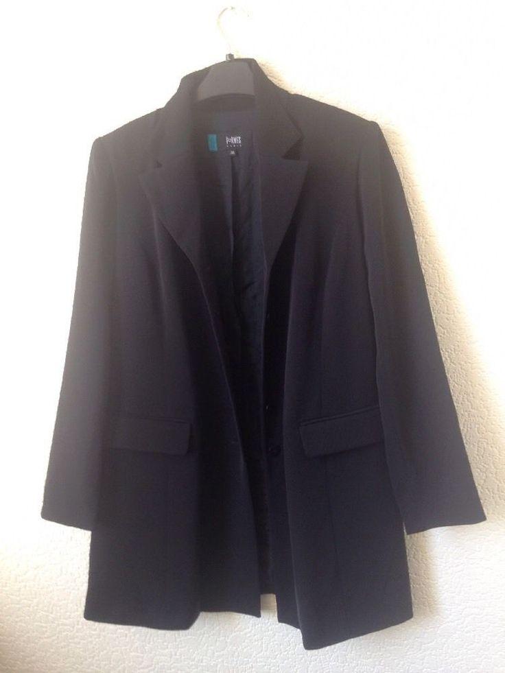 Maternity  Black Jacket Blazer Formes Size 10  EUR 38 #FromesParis #RelaxedBlazer