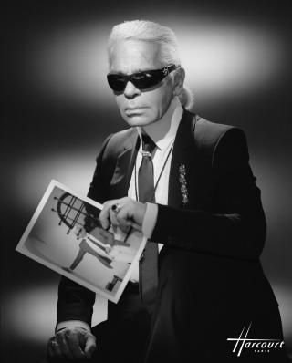 Karl Lagerfeld - studio Harcourt