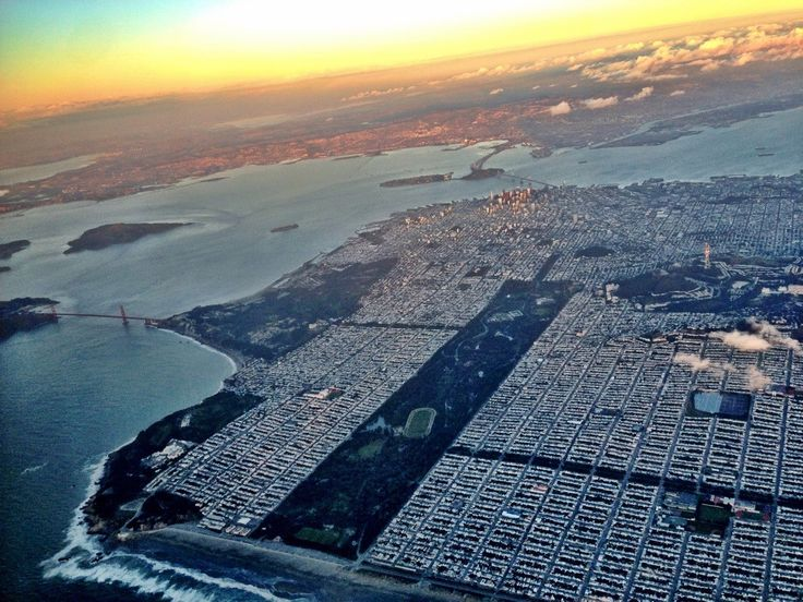 San Fransisco bird's eye view.