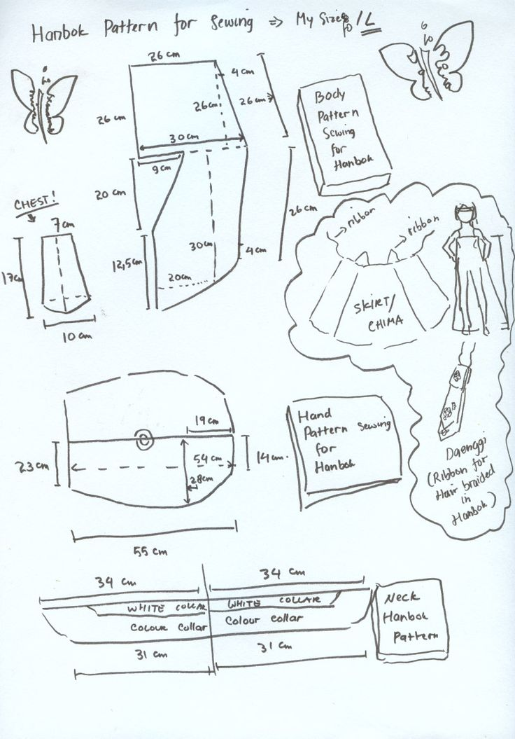 Hanbok pattern for sewing by seawaterwitch.deviantart.com on @deviantART