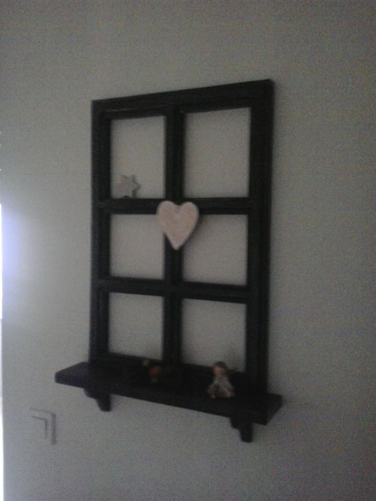 ..rustic Small Cardboard Window, With Romantic Heart And Little Shelf... (  Mali  Amazing Design