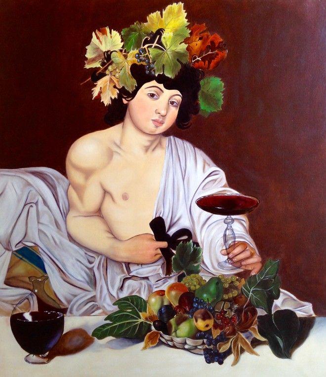 copia dipinto Bacco di Caravaggio 80x70 cm