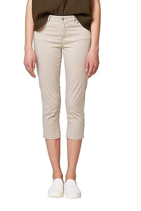 Esprit 038ee1b013, Pantalon Femme, Gris (Light Grey 040), 38 (Taille ... 361532c391e4