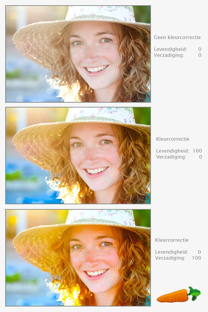 Maak van een portret geen wortel! Het verschil tussen levendigheid & verzadiging (via Vink Academy - Fotografielessen van Laura Vink)