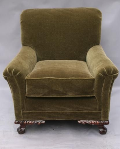 Attractive 1920u0027s Furniture | SOLD 2728. 1920u0027s Chair With Silk Mohair Upholstery,  Seating, Spanish