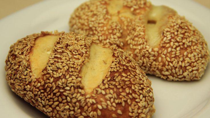 Kaşar Peynirli Simit Poğaça Tarifi - Mayalı Susamlı Poğaça
