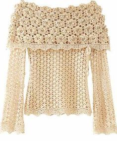 DIAGRAMA BLUSA LINDA Crochet Pattern