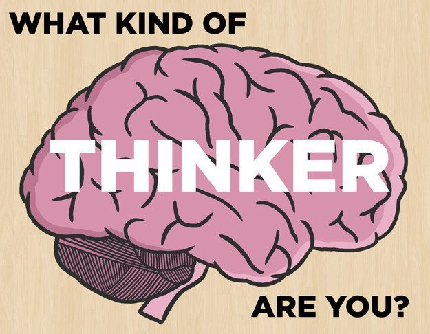 What Kind Of Thinker Are You? This was an interesting quiz and the results were so true. It gives you a cool video about your thinking.