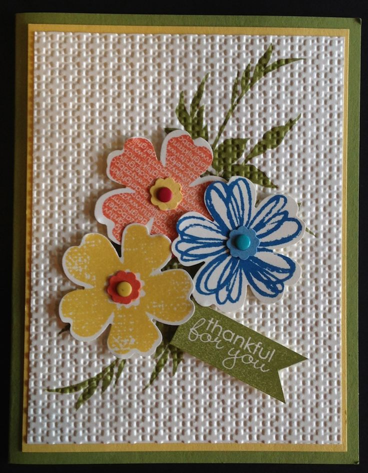 Card Making Ideas With Flowers Part - 18: The Flower Shop Set From Stampinu0027 Up Can Be Used To Quickly Create Fun And  Happy Cards! By Quella