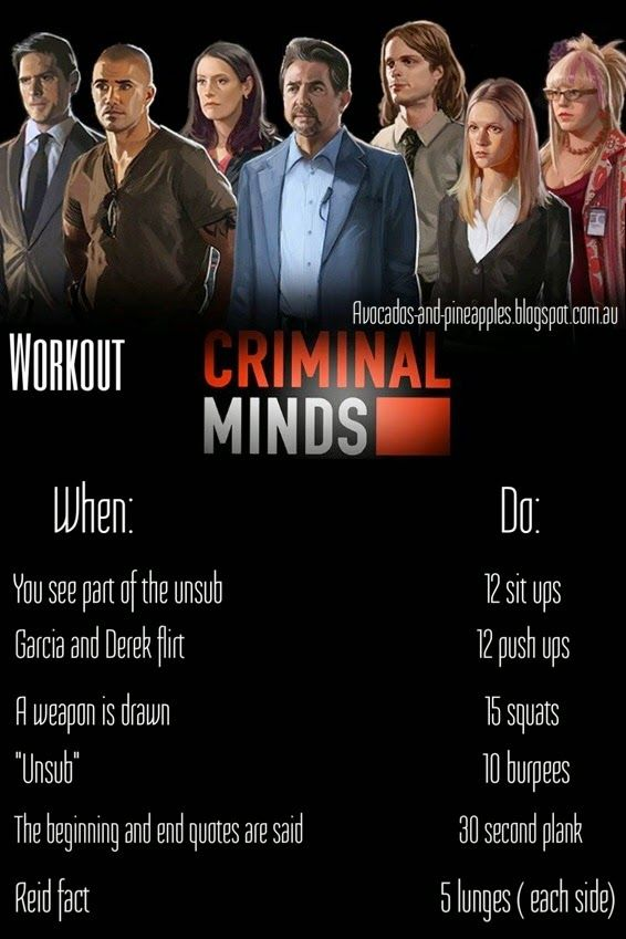 Seeing as I've been on a criminal minds binge recently, I figured I might get some good exercise out of it