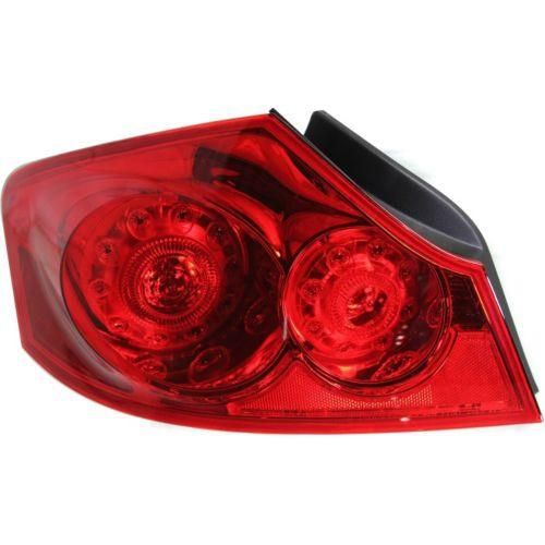 2007-2008 Infiniti G35 Tail Lamp LH, Assembly, Red Lens, Sedan