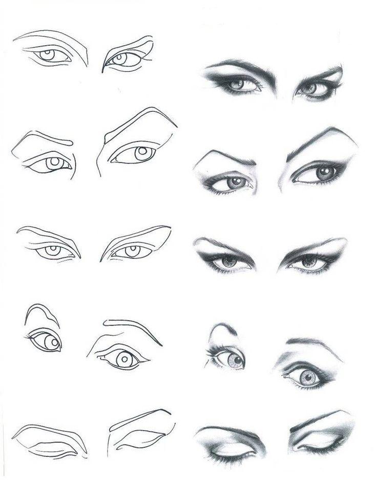 sombra nos olhos.