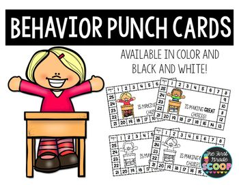 Looking for a way to encourage good behavior? These behavior punch cards will…