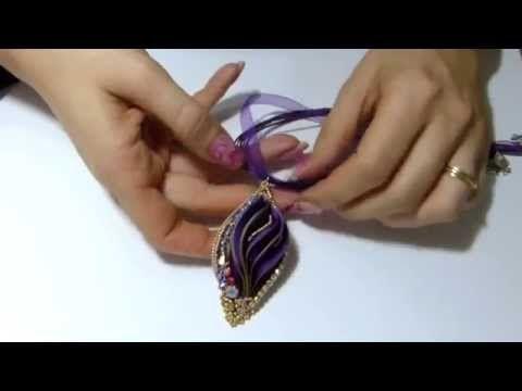 creazioni perline seta shibori e catena strass gioielli fai da te beadwork handmade - YouTube