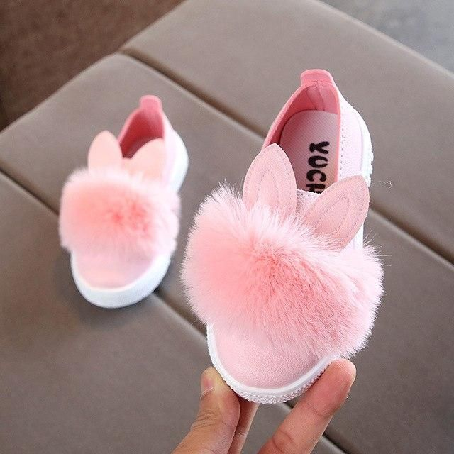 Baby fur front shoes | Cute baby shoes