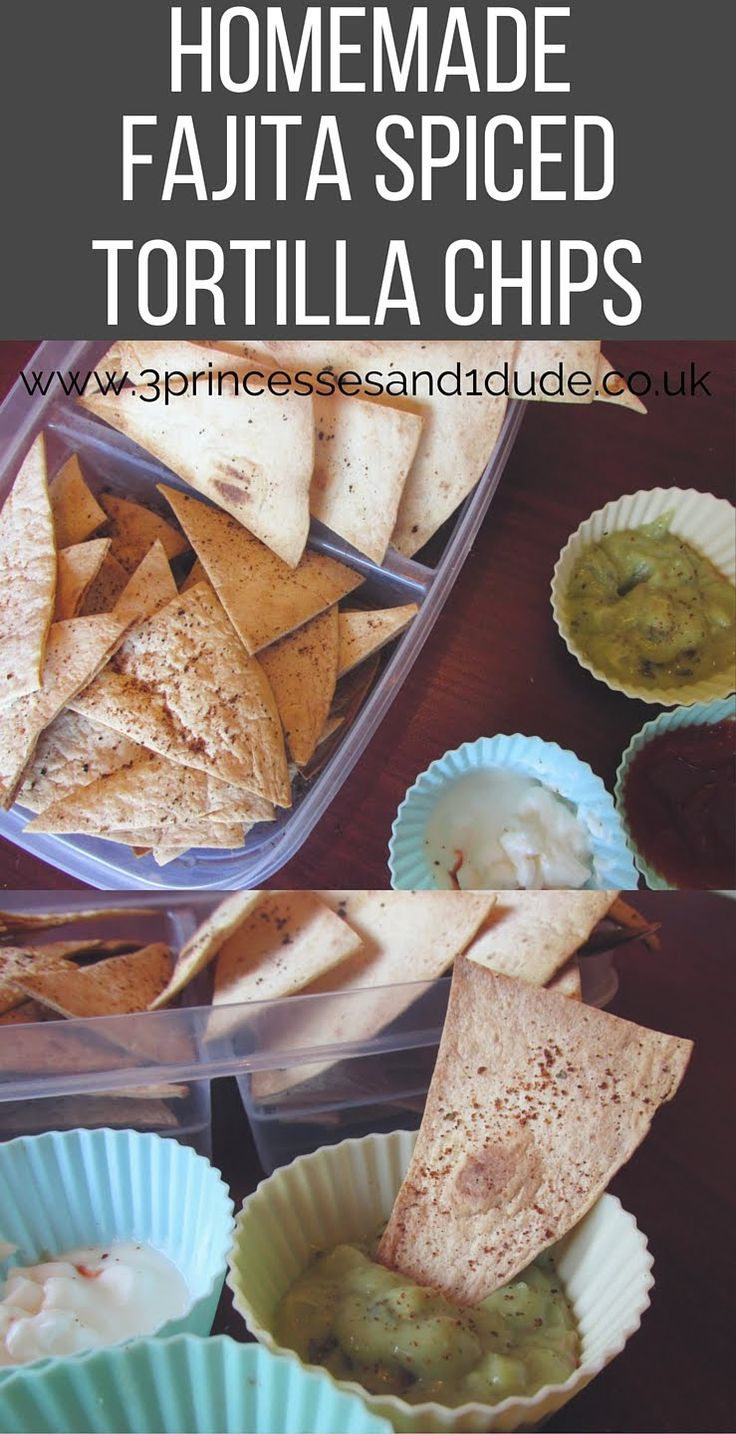 Cooking With Kids. Homemade Fajita Spiced Tortilla Chips.