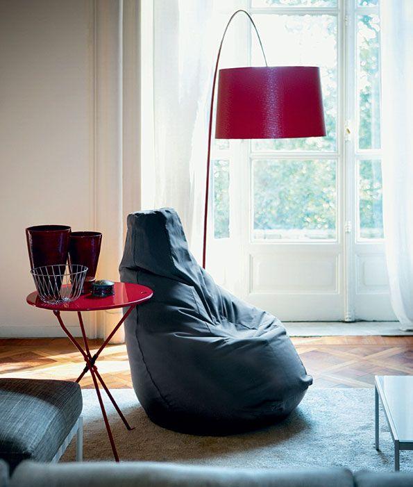 Garage Studio: Inform Zanotta Sacco bean bag chair