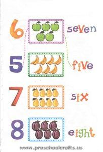 preschool numbers worksheets