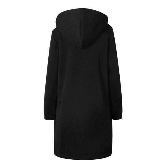 7bf6883d43a EFINNY Plus Size Womens Winter Casual Long Sleeve Warm Zipper Coat Outwear  - Walmart.com