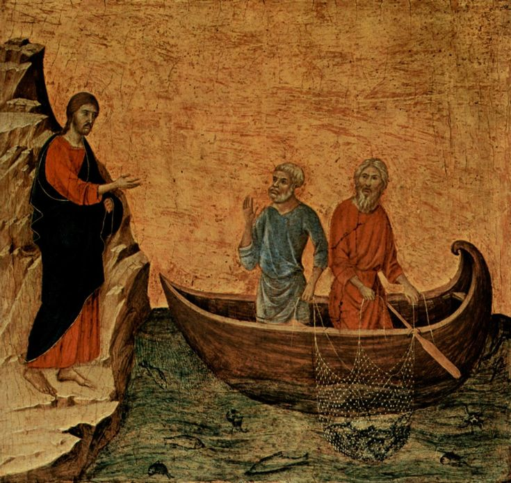 Duccio di Buoninsegna (Italian, c. 1260 - 1319) The Calling of the Apostles Peter and Andrew Duccio di Buoninsegna (Italian, c. 1260 - 1319)  National Gallery of Art (USA)