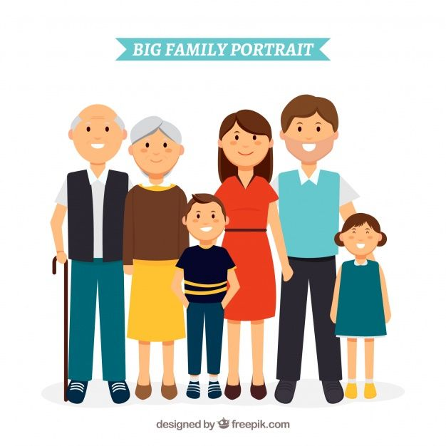Download Big Happy Family With Flat Design For Free With Images