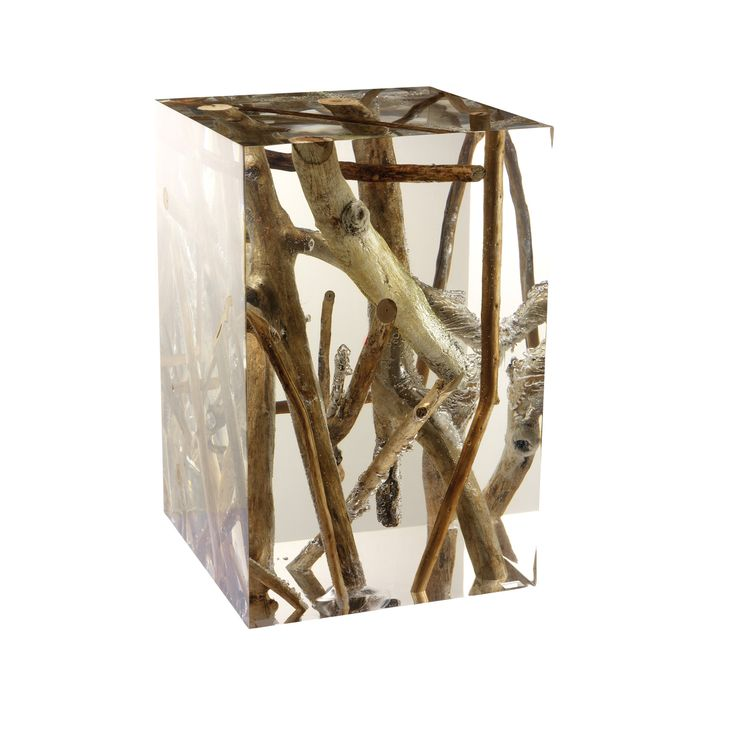 Side table, driftwood encased in acrylic, Michael Hawkins, $5,995 (holy moley)