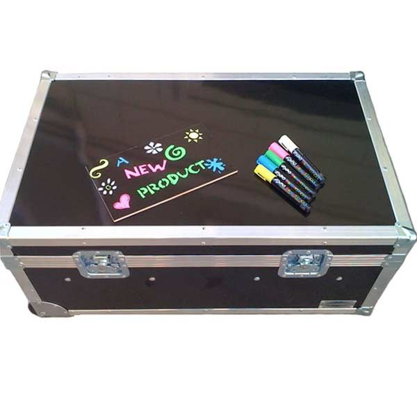 Erase Case Large ATA College Footlocker Black with Recessed Wheels and Tray | FREE SHIPPING