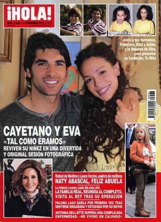 ¡HOLA! Nº 3566 - 05/12/12 #revistas #portadas #magazines #covers