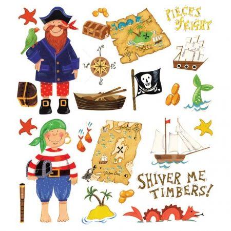 Land in zicht!! Ga je met de piraten mee op zoek naar de schat? Vaar met het bootje naar het eiland. De schatkaart en het kompas wijzen je de weg naar de ...
