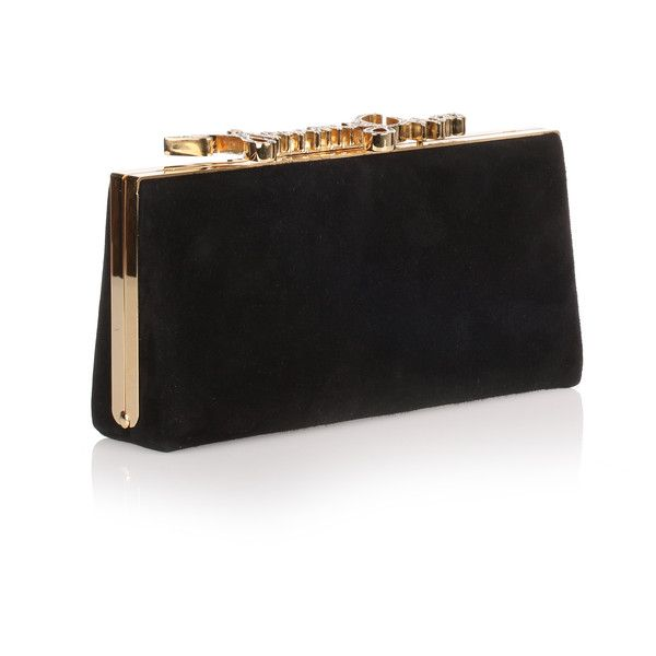 Jimmy Choo Celeste Small Black Crystal Logo Clutch (2,810 PEN) ❤ liked on Polyvore featuring bags, handbags, clutches, purses, bolsas, black, handbag purse, jimmy choo clutches, jimmy choo and chain purse