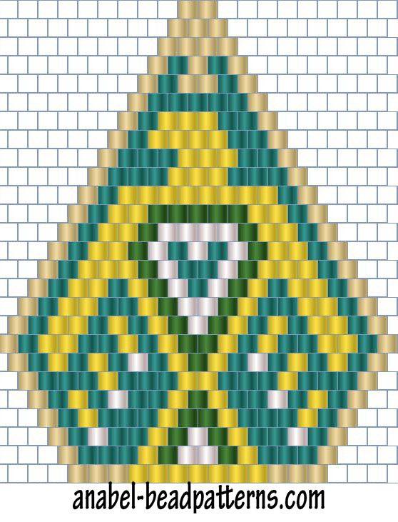 4 схемы сережек - мозаичное