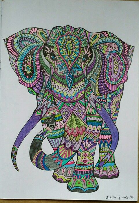 My own colored elephant.... happy about it ,)