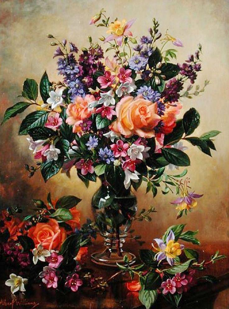 Bodegones de flores pintados al leo bodegones y for Cuadros pintados al oleo