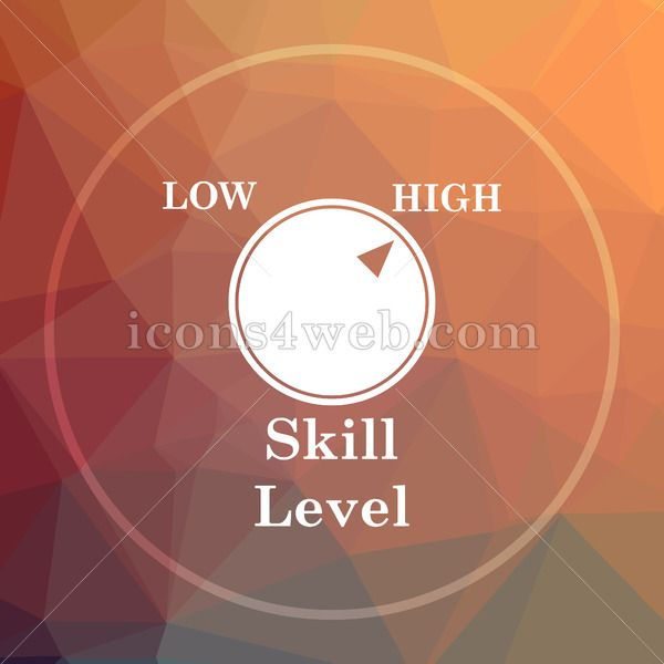 Skill Level Low Poly Icon Website Low Poly Icon Skills Icon Education Level