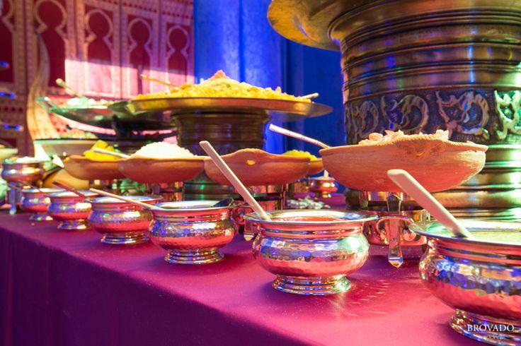 Mehndi Menu Ideas : Lavish indian buffet table at mehndi and wedding