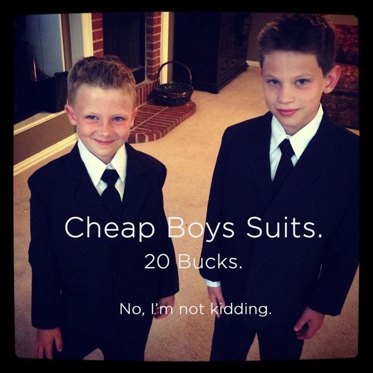This company had boys suits as cheap as $19.99 and up