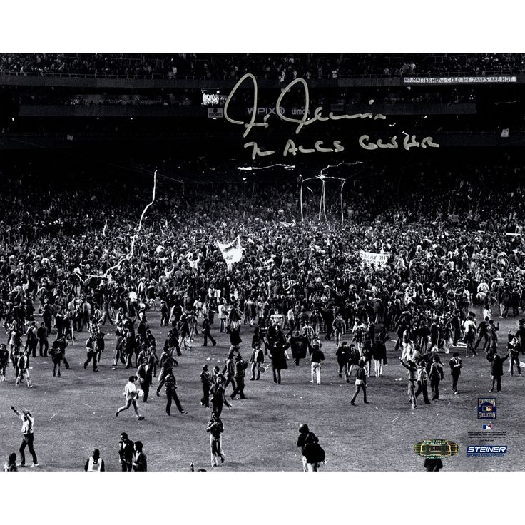 Chris Chambliss Signed BW ALCS Game Winning HR Horizontal 8X10 Photo w 76 ALCS GWHR Insc - New York Yankees great Chris Chambliss has personally hand-signed this ALCS Game Winning HR Horizontal 8x10 Black/White Photo and inscribed it 76 ALCS GWHR-The 1971 Rookie of the Year Chris Chambliss had a productive 17-season career in the big leagues including stints in Cleveland New York and Atlanta. He is best known for this legendary walk-off home run during Game 5 of the 1976 American League…