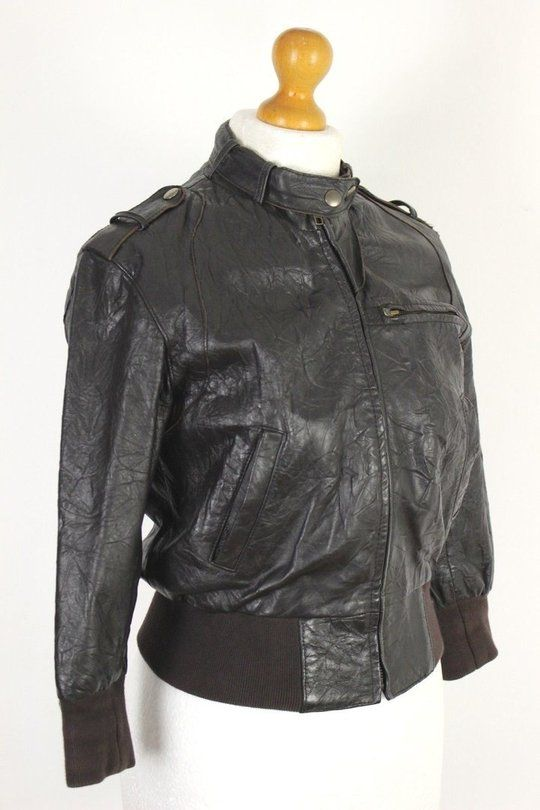 495ad85a9a9610 ALLSAINTS Ladies LEATHER BOMBER JACKET   COAT - Size Small - S ...