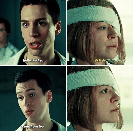 """And when he was totally done with Rachel's shit. 