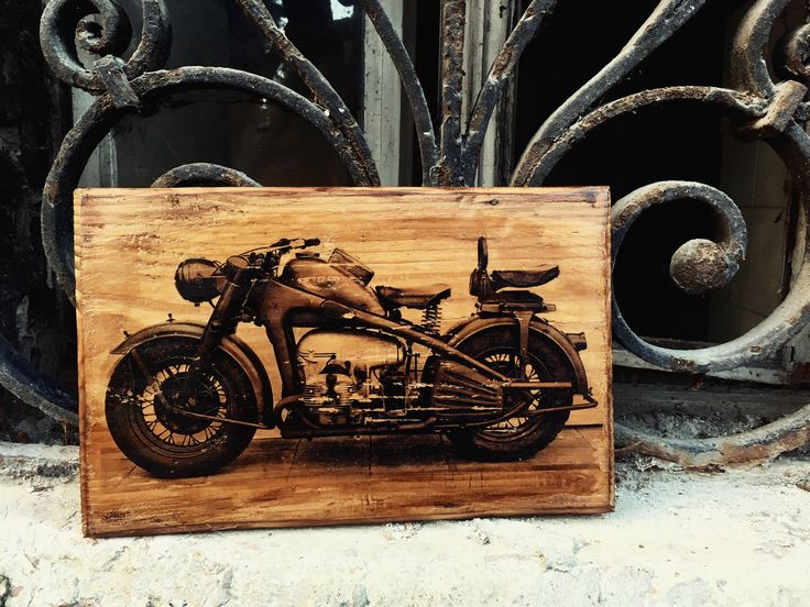 Excited to share the latest addition to my #etsy shop: Zündapp KS 750 Motorcycle Wooden Picture Home Decor Garage Art