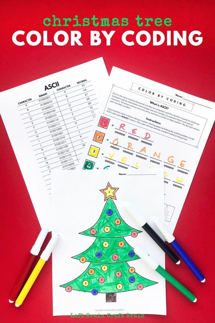 Christmas Tree Color By Coding Christmas Coloring Page Christmas Coloring Pages Christmas Crafts For Kids To Make Christmas Colors
