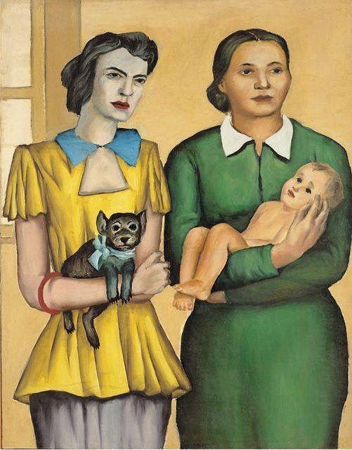 Andrzej Wróblewski (Pol. 1927-1957) Two married women (1949) oil on canvas (113,5 x 90 cm)