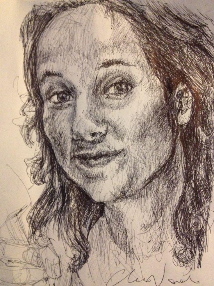 Silvi - black pen drawing by Chiara Nardo