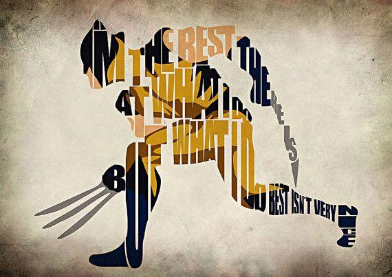 Wolverine Inspired X-men Typographic Poster